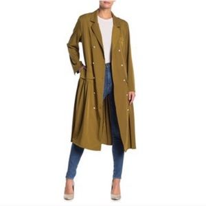 TOV Holy Pearl Button Tuxedo Dress Long Jacket Top